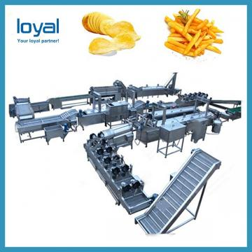 Green Banana Plantain Potato Chips Machine With Slicing And Deoiling Function 100 Kg / H