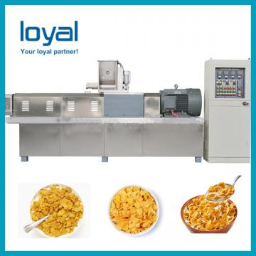 Small capacity corn pops cereal making machine extruder corn flakes production equipments