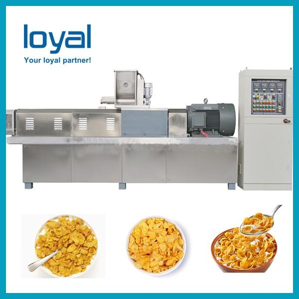 Small capacity corn pops cereal making machine extruder corn flakes production equipments #1 image
