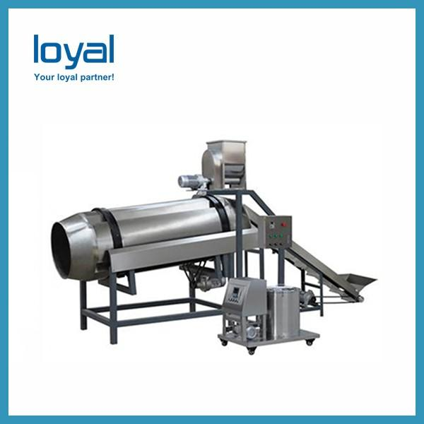 Negotiable molds Screw extruding Long floating time extruded fried pellets food machines with ISO & CE #2 image