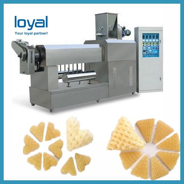Negotiable molds Screw extruding Long floating time extruded fried pellets food machines with ISO & CE #3 image